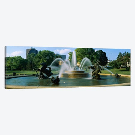 Fountain in a garden, J C Nichols Memorial Fountain, Kansas City, Missouri, USA Canvas Print #PIM1961} by Panoramic Images Canvas Wall Art