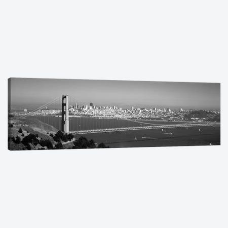 High angle view of a suspension bridge across the sea, Golden Gate Bridge, San Francisco, California, USA Canvas Print #PIM1966} by Panoramic Images Art Print