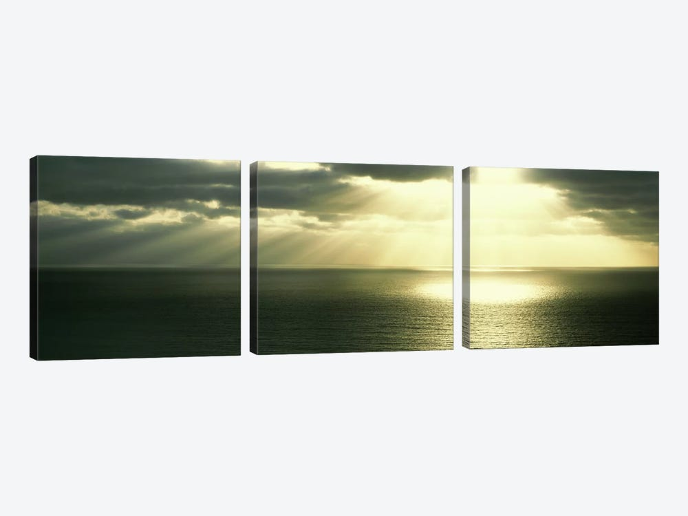 Sunset Pacific Ocean San Diego CA USA by Panoramic Images 3-piece Canvas Wall Art