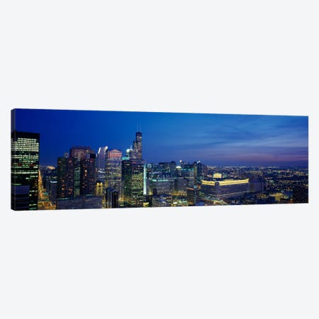 USA, Illinois, Chicago, twilight Canvas Print #PIM196} by Panoramic Images Canvas Art Print