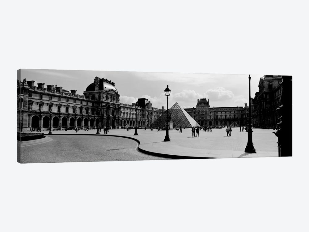 View Of The Courtyard, Musee du Louvre, Paris, Ile-de-France, France by Panoramic Images 1-piece Canvas Wall Art