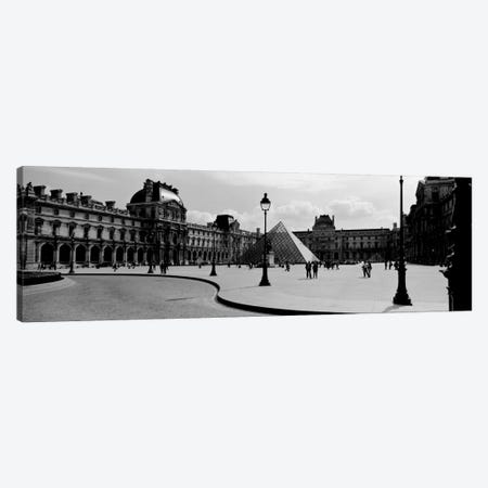 View Of The Courtyard, Musee du Louvre, Paris, Ile-de-France, France 3-Piece Canvas #PIM1975} by Panoramic Images Canvas Wall Art