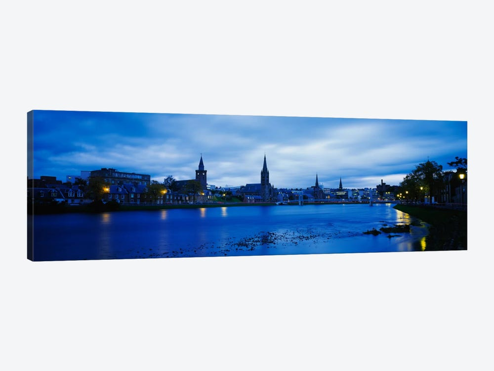 Riverfront Architecture, Inverness, Scotland, United Kingdom by Panoramic Images 1-piece Canvas Art Print