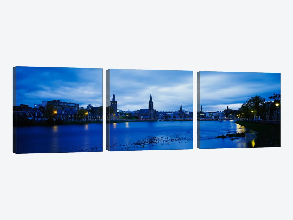 Riverfront Architecture, Inverness, Scotland, United Kingdom by Panoramic Images 3-piece Canvas Print