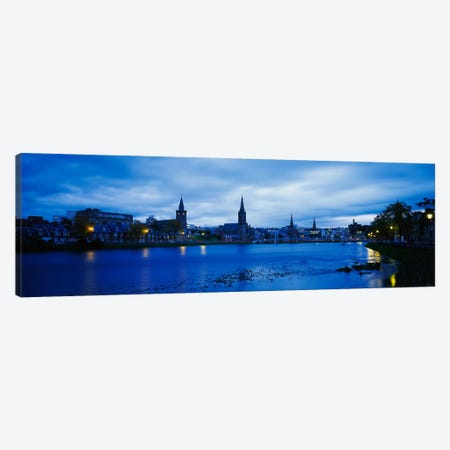 Riverfront Architecture, Inverness, Scotland, United Kingdom Canvas Print #PIM1976} by Panoramic Images Canvas Wall Art