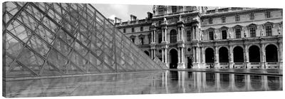 Pyramid in front of an art museum, Musee Du Louvre, Paris, France Canvas Art Print