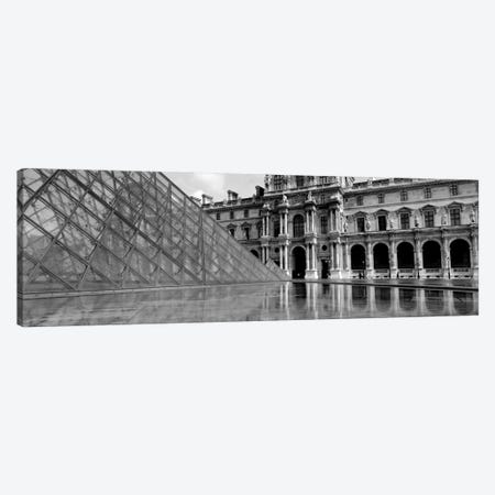 Pyramid in front of an art museum, Musee Du Louvre, Paris, France Canvas Print #PIM1978} by Panoramic Images Canvas Print