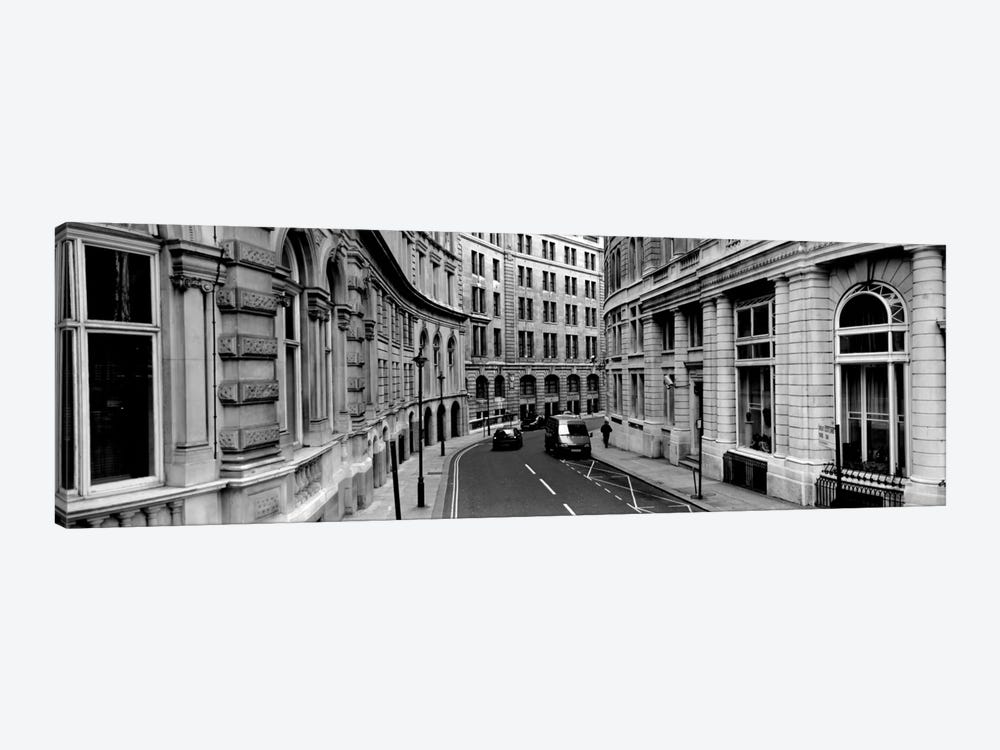 Buildings along a road, London, England 1-piece Canvas Wall Art