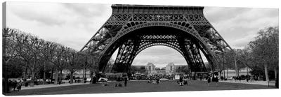 Low section view of a tower, Eiffel Tower, Paris, France Canvas Art Print
