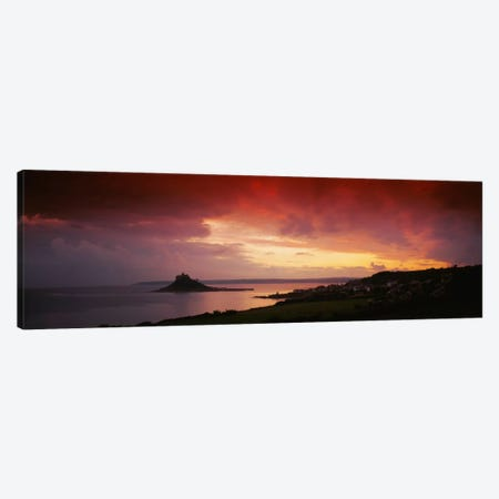 Clouds over an island, St. Michael's Mount, Cornwall, England Canvas Print #PIM1982} by Panoramic Images Canvas Wall Art