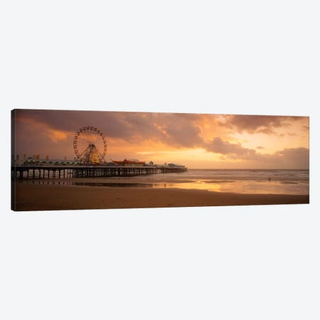 Central Pier, Blackpool, Lancashire, England, United Kingdom Canvas Print #PIM1983} by Panoramic Images Canvas Art