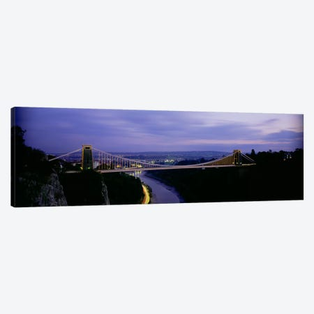Clifton Suspension Bridge At Night, Bristol, England, United Kingdom Canvas Print #PIM1986} by Panoramic Images Canvas Print