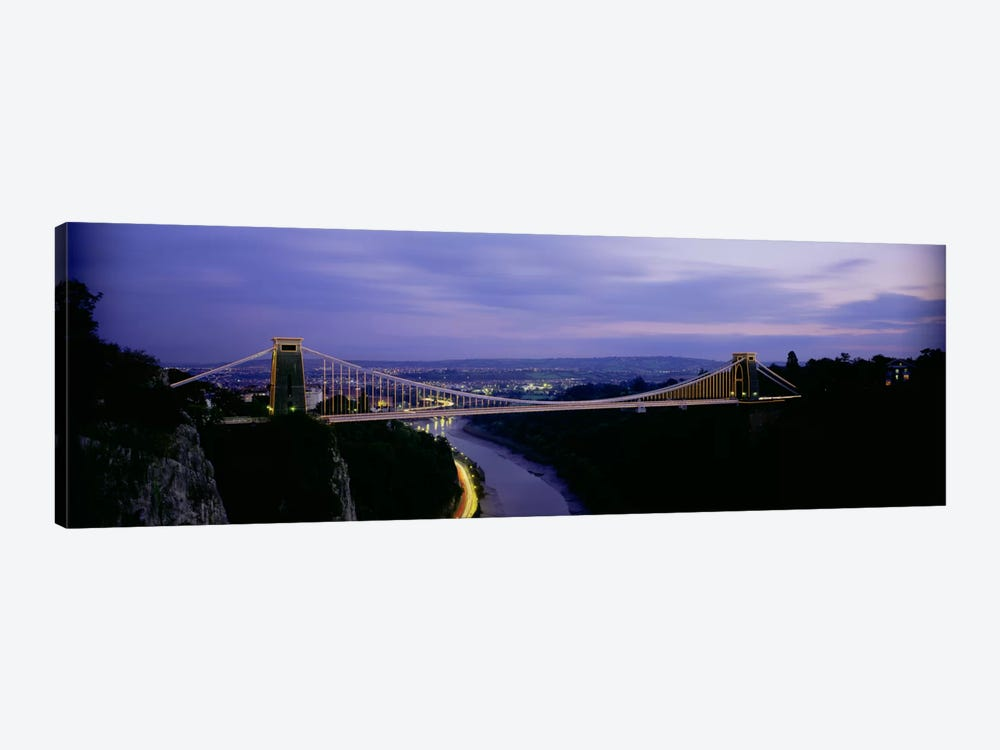 Clifton Suspension Bridge At Night, Bristol, England, United Kingdom by Panoramic Images 1-piece Canvas Wall Art