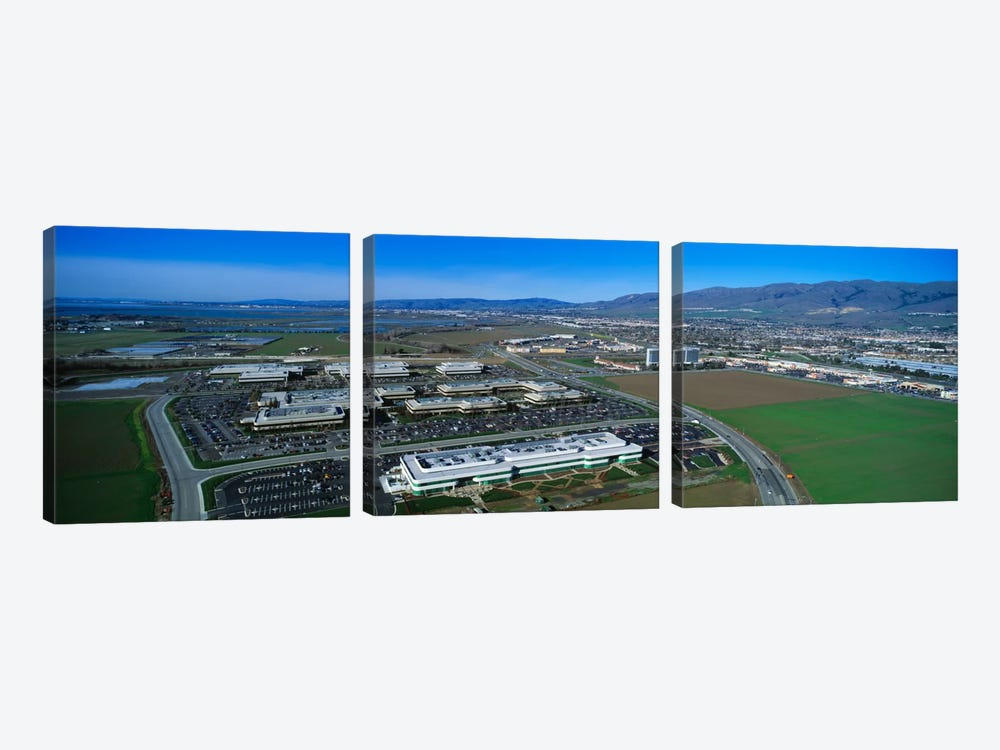 Aerial View, Silicon Valley Business Campus, San Jose, California, USA 3-piece Art Print