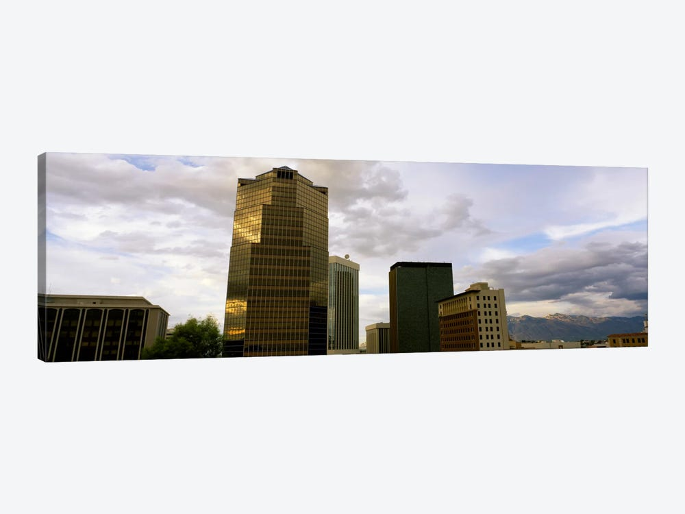 Buildings in a city with mountains in the background, Tucson, Arizona, USA by Panoramic Images 1-piece Canvas Print