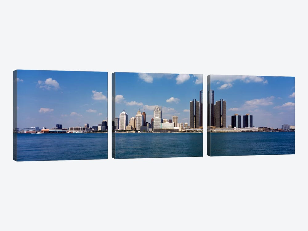 Detroit MI USA #2 by Panoramic Images 3-piece Canvas Art