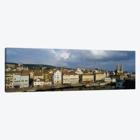 High Angle View Of A City, Grossmunster Cathedral, Zurich, Switzerland Canvas Print #PIM1994} by Panoramic Images Canvas Artwork