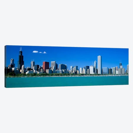 Skyline Chicago IL USA Canvas Print #PIM1999} by Panoramic Images Canvas Art Print