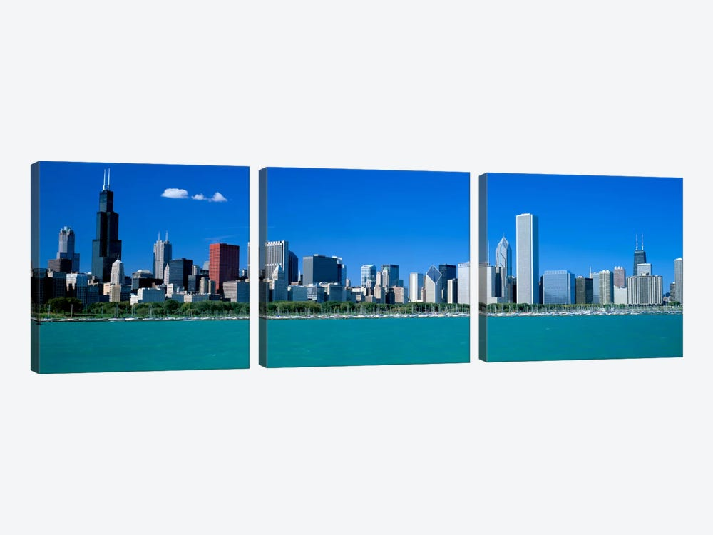 Skyline Chicago IL USA by Panoramic Images 3-piece Canvas Wall Art