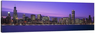 Downtown Skyline At Dusk, Chicago, Illinois, USA Canvas Print #PIM2000