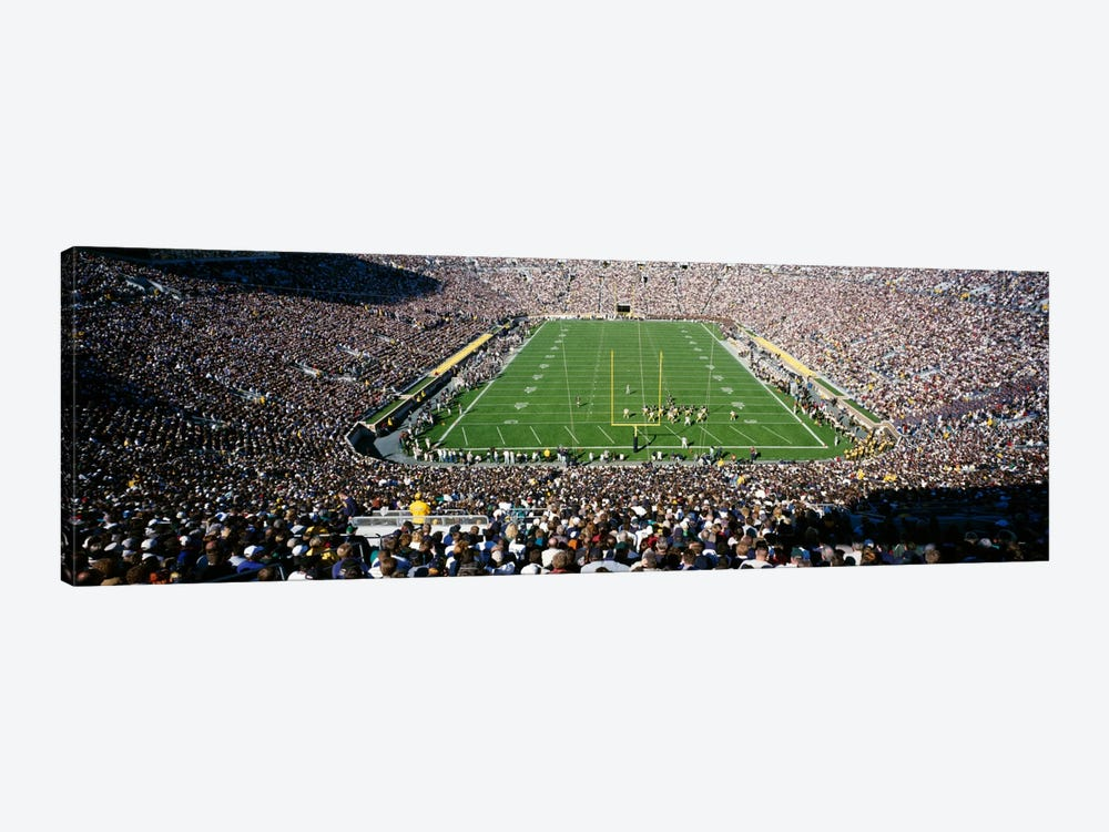 Aerial view of a football stadium, Notre Dame Stadium, Notre Dame, Indiana, USA by Panoramic Images 1-piece Canvas Print