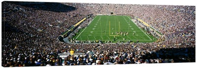 Aerial view of a football stadium, Notre Dame Stadium, Notre Dame, Indiana, USA Canvas Art Print