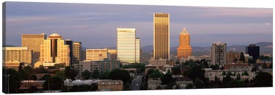 Cityscape at sunset, Portland, Multnomah County, Oregon, USA Canvas Art Print