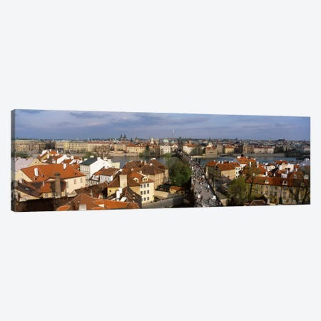 Charles Bridge Moldau River Prague Czech Republic Canvas Print #PIM2008} by Panoramic Images Canvas Print