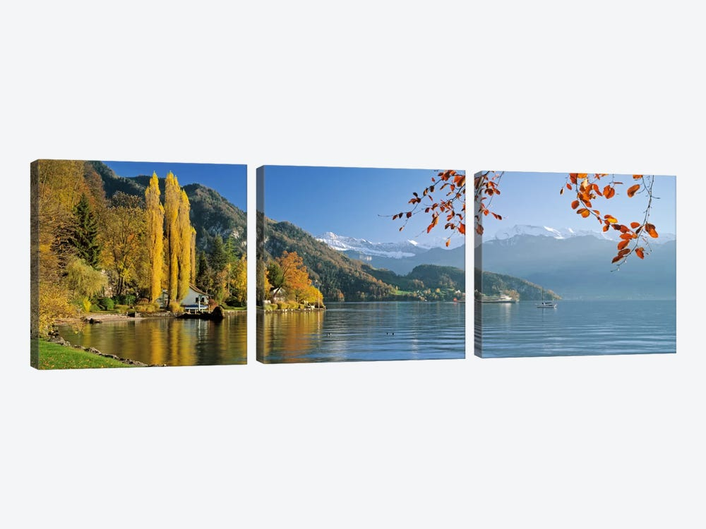 Vierwaldstattersee (Lake Lucerne), Vitznau, Lucerne, Switzerland by Panoramic Images 3-piece Canvas Artwork
