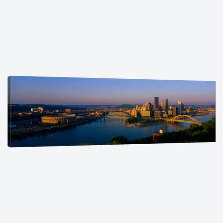 High angle view of a cityThree Rivers Stadium, Pittsburgh, Pennsylvania, USA Canvas Print #PIM2018} by Panoramic Images Canvas Art