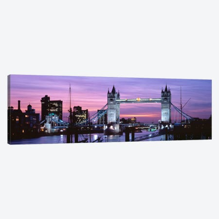 Tower Bridge At Night, London, England, United Kingdom Canvas Print #PIM201} by Panoramic Images Canvas Art