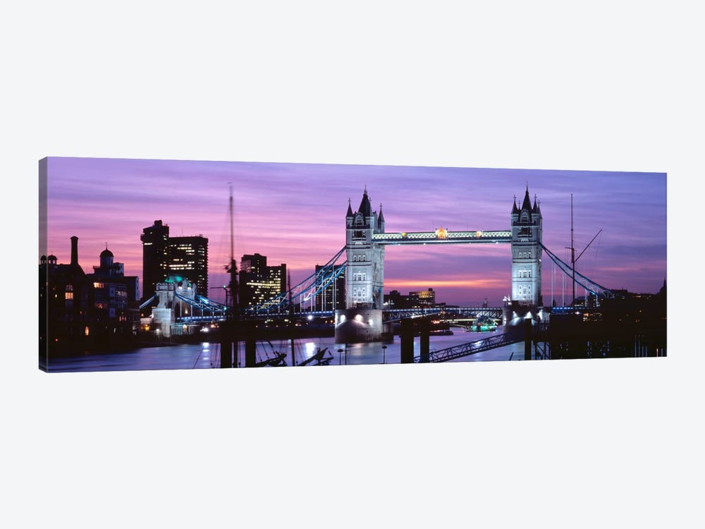 Tower Bridge At Night, London, England, United Kingdom by Panoramic Images 1-piece Canvas Artwork