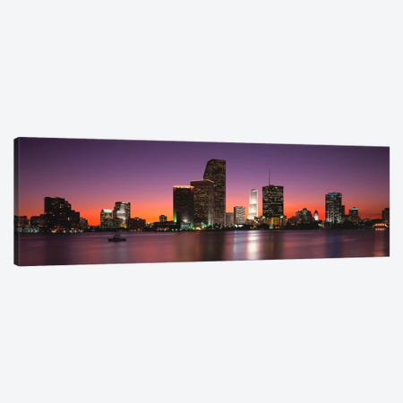 Evening Biscayne Bay Miami FL Canvas Print #PIM2021} by Panoramic Images Art Print