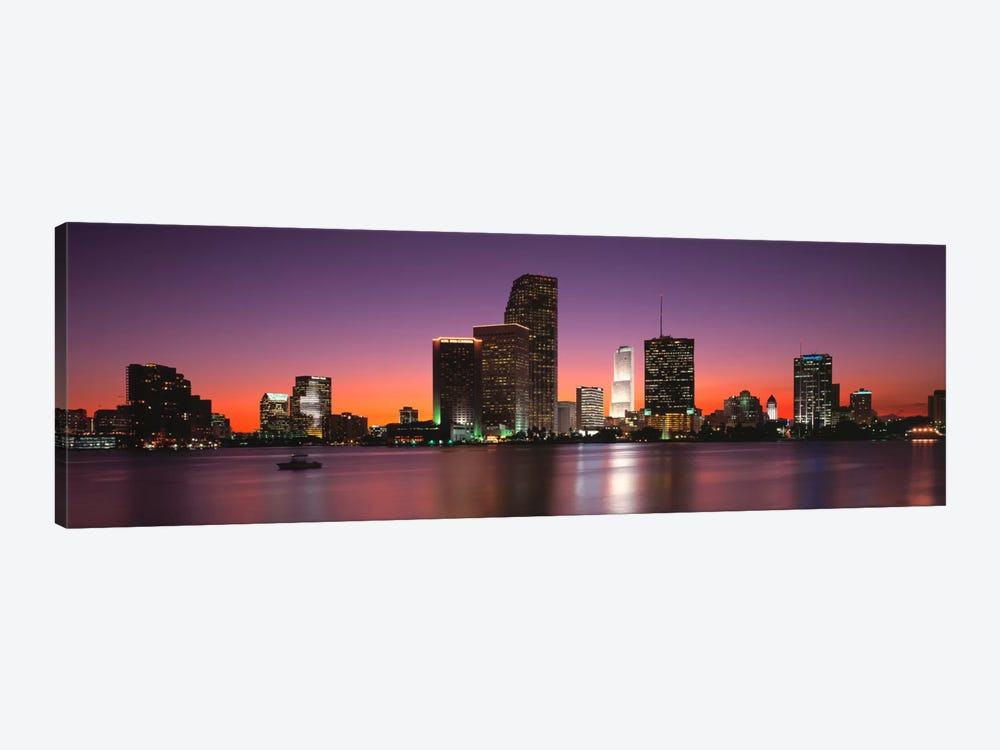 Evening Biscayne Bay Miami FL by Panoramic Images 1-piece Canvas Art Print