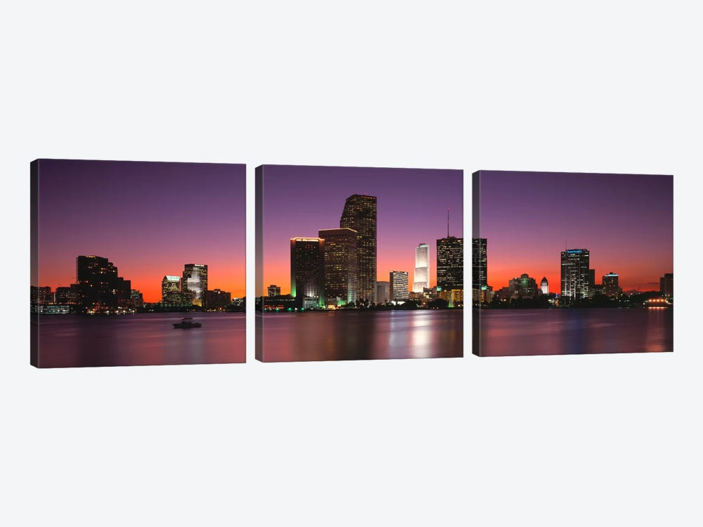 Evening Biscayne Bay Miami FL by Panoramic Images 3-piece Art Print