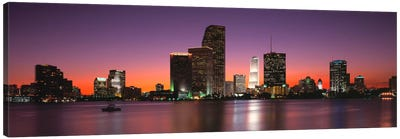 Evening Biscayne Bay Miami FL Canvas Art Print