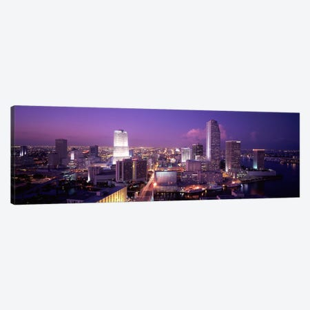 High Angle View Of A City, Miami, Florida, USA 3-Piece Canvas #PIM2023} by Panoramic Images Canvas Art Print