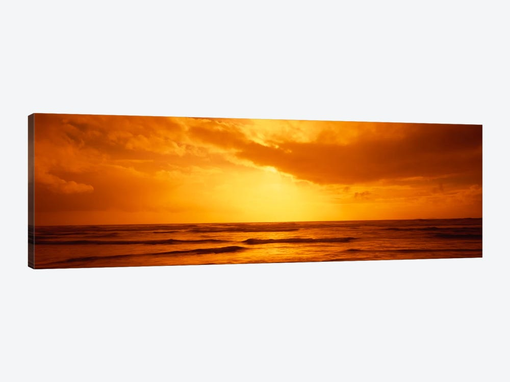 Golden Sunset Over The Pacific Ocean by Panoramic Images 1-piece Canvas Artwork