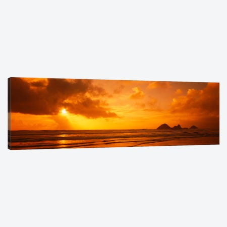 Silhouette of rock formations in water, Northern California, California, USA Canvas Print #PIM2025} by Panoramic Images Canvas Wall Art