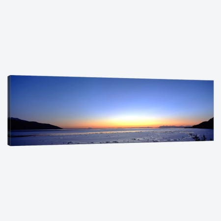 Sunset over the sea, Turnagain Arm, Cook Inlet, near Anchorage, Alaska, USA Canvas Print #PIM2029} by Panoramic Images Canvas Art Print