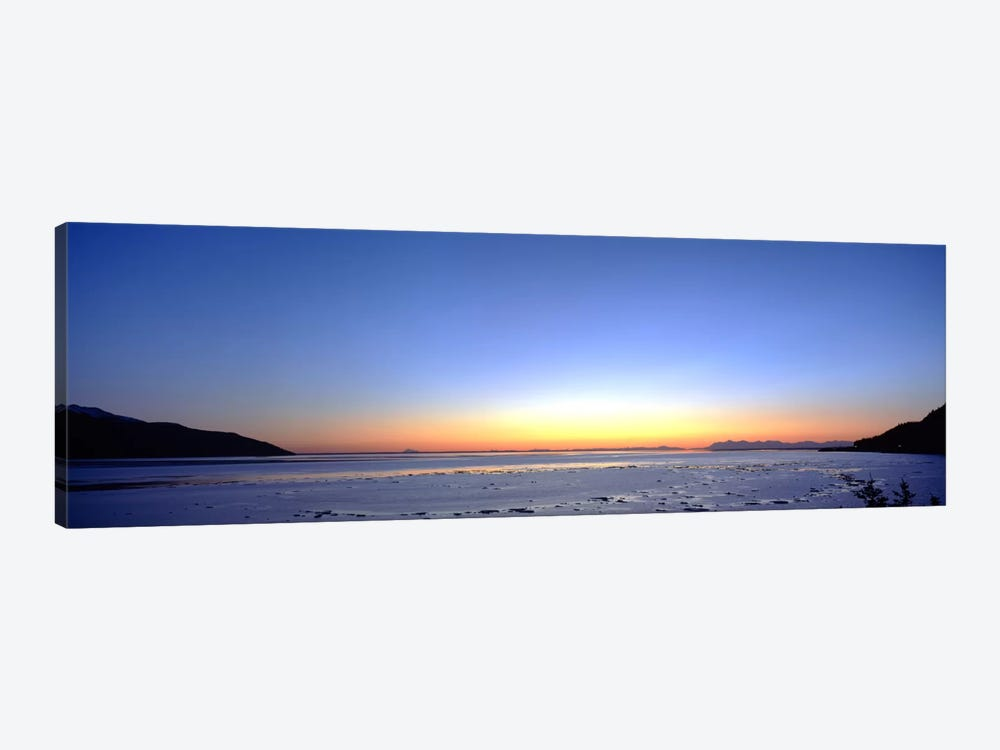 Sunset over the sea, Turnagain Arm, Cook Inlet, near Anchorage, Alaska, USA by Panoramic Images 1-piece Canvas Art Print