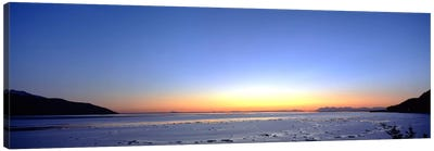 Sunset over the sea, Turnagain Arm, Cook Inlet, near Anchorage, Alaska, USA Canvas Art Print