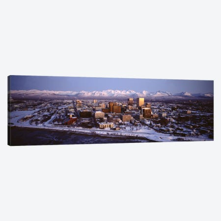 Anchorage at the base of Chugach Mtns AK USA Canvas Print #PIM2031} by Panoramic Images Canvas Art