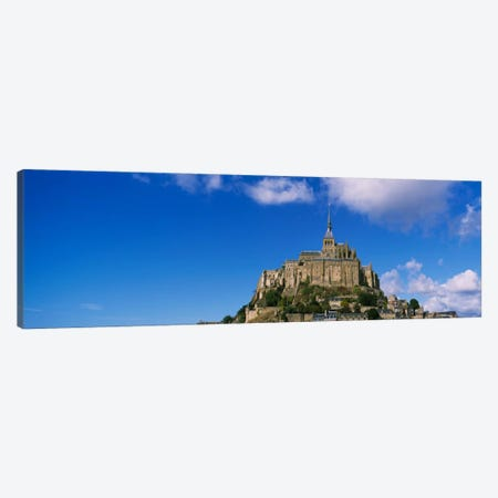 Road leading towards a church, Le Mont Saint Michel, Normandy, France Canvas Print #PIM2032} by Panoramic Images Canvas Wall Art