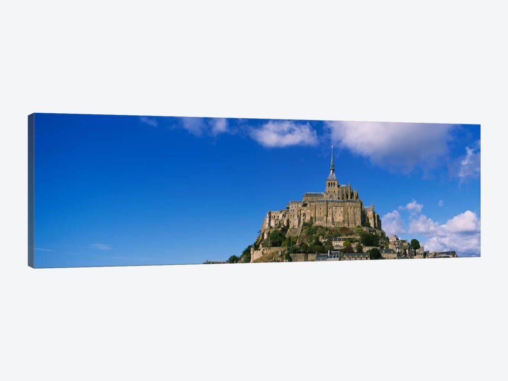 Road leading towards a church, Le Mont Saint Michel, Normandy, France by Panoramic Images 1-piece Canvas Print