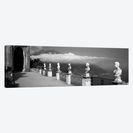Marble busts along a walkway, Ravello, Amalfi Coast, Salerno, Campania, Italy Canvas Print #PIM2033} by Panoramic Images Canvas Wall Art