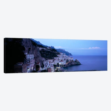 High-Angle View Of Amalfi, Amalfi Coast, Salerno, Campania, Italy Canvas Print #PIM2034} by Panoramic Images Art Print