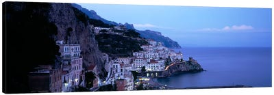 High-Angle View Of Amalfi, Amalfi Coast, Salerno, Campania, Italy Canvas Art Print