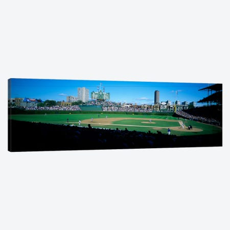 Baseball match in progressWrigley Field, Chicago, Cook County, Illinois, USA Canvas Print #PIM2036} by Panoramic Images Canvas Art Print