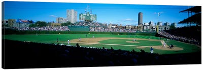 Baseball match in progressWrigley Field, Chicago, Cook County, Illinois, USA Canvas Art Print